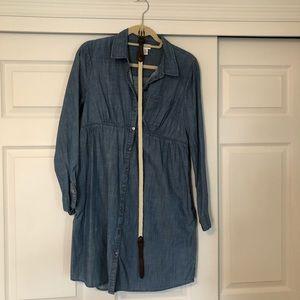 MEDIUM. MOTHERHOOD MATERNITY. chambray dress. EUC.